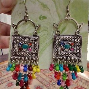 Boho style multicolor fashion earrings